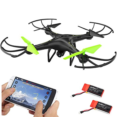 Cheerwing Petrel U42W Wifi FPV Drone 2.4Ghz RC Quadcopter with HD Camera Flight Route Mode and Altitude Hold One Key Take Off Landing