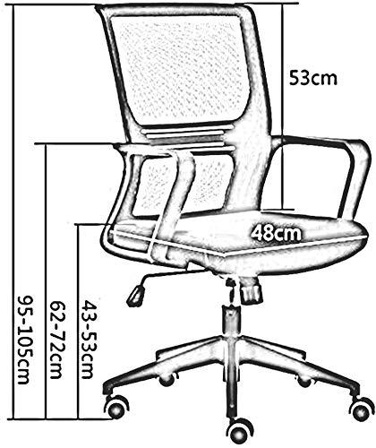 DBL Justerbar sitthöjd nät kontorsstol modernt utseende perfekt position innebär konferensbord upprätt nät skrivbordsstolar (färg: Svart, storlek: Svart ram)