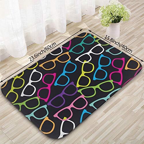 (Sunglasses Color Pattern Non-Slip Bath Mat Coral Rug Door Mat Entrance Rug Floor Mats Entry Carpet(16x23.6 Inch) )
