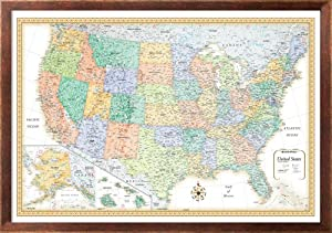 Amazoncom X Rand McNally Classic United States USA Wall Map - Rand mcnally us wall map