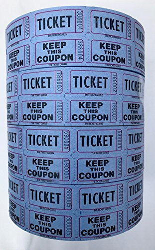 The Ticket Gurus-Raffle Tickets - (4 Rolls of 2000 Double Tickets) 8,000 Total 50/50 Raffle Tickets (4) Blue Rolls