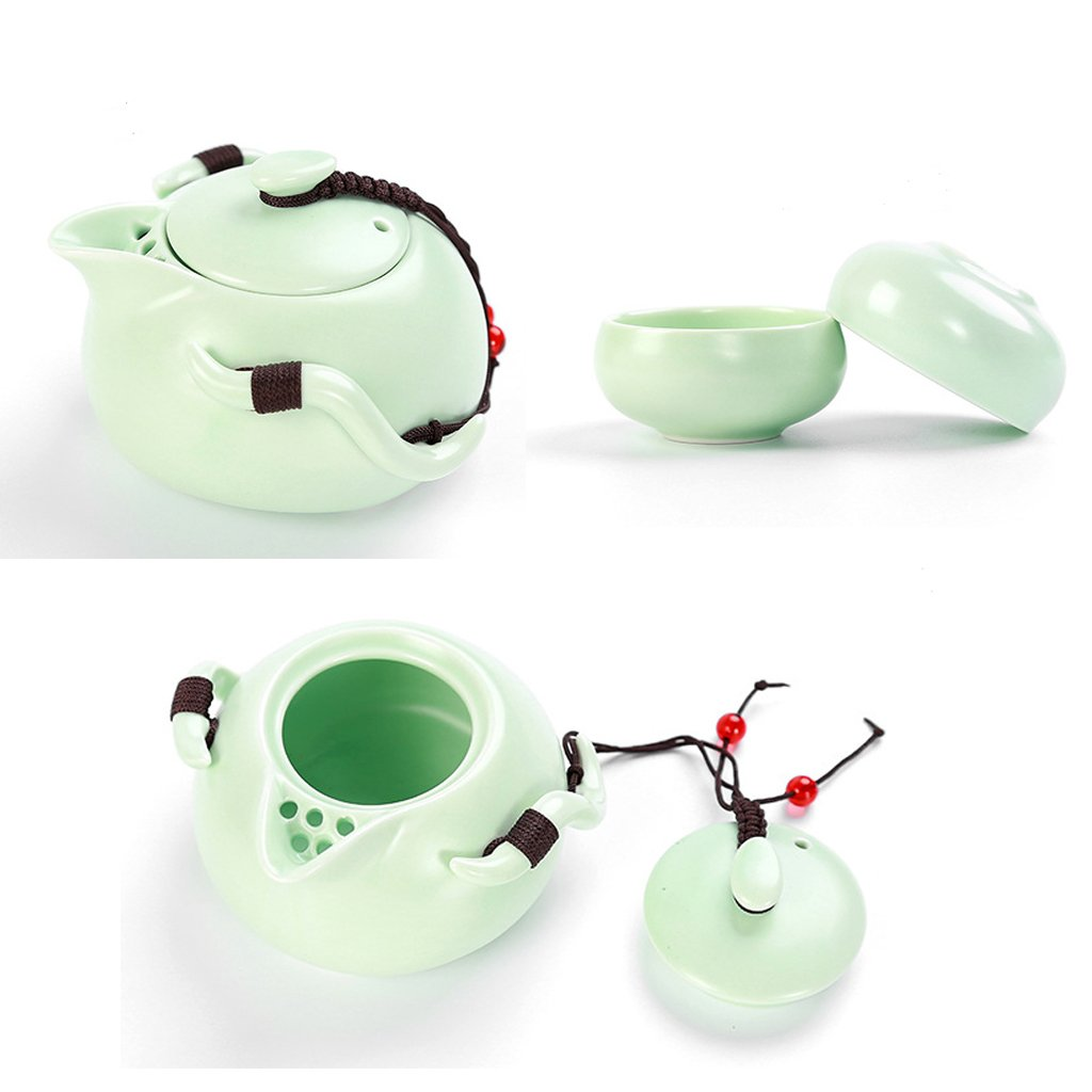 #D Black as described Fenteer Crafted Hand-made Porcelain Teapot Set 5 Cup Capacity Chinese Old History Kungfu Tea Pot Drinkware