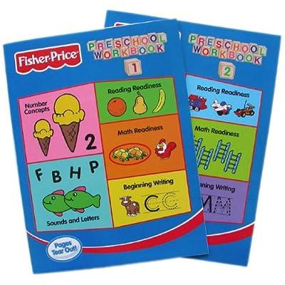 Fisher-Price Preschool Pre-school Workbooks Vol 1 & 2 - 2pc Set: Toys & Games