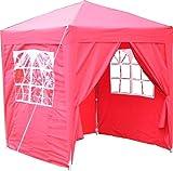 Airwave 2x2m Waterproof Red Garden Pop Up Gazebo - Stunning Outdoor Marquee Tent with Carry Bag