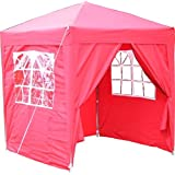 Airwave 2x2m Waterproof Red Garden Pop Up Gazebo - Stunning Outdoor Marquee Tent with Carry Bag