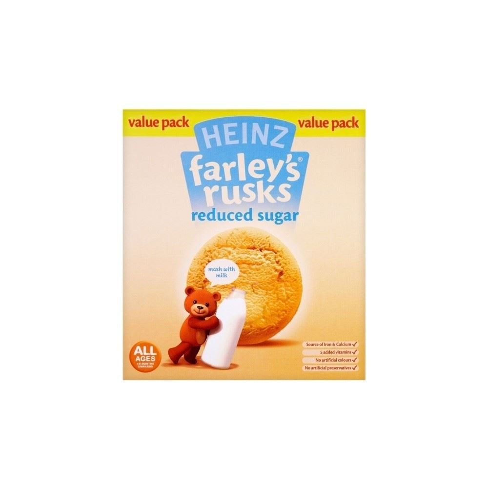 Heinz Farley's Rusks Reduced Sugar 4mth+ (18 per pack - 300g) Grocery