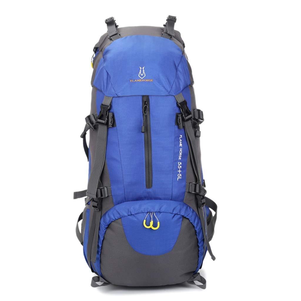 屋外バックパック 屋外登山バッグ肩男性と女性60 L大容量ライトキャリングバッグナイロンアンチスプラッシュトラベルバッグ HBJP (色 : C)  C B07RLY7PHG