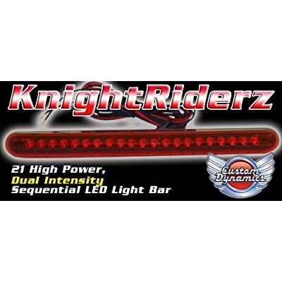 Custom Dynamics Knight Riderz Sequential 21 LED Light Bar with Flashing Brake Alert: Automotive