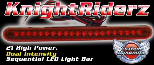 Custom Dynamics Knight Riderz Sequential 21 LED Light Bar with Flashing Brake Alert