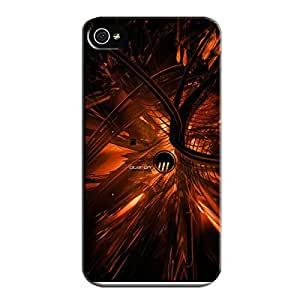 Shockproof TPU Black Abstract Protective Hard Case For Iphone 4/4s