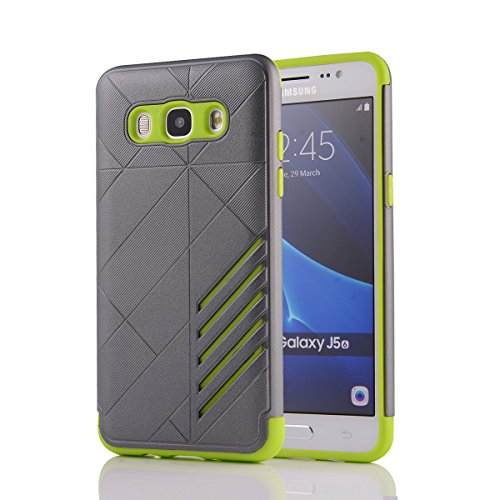 TPU/PC Shockproof Cover Case for Samsung Galaxy J510 J5 2016 (Grey) - 9