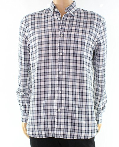 Brooks Brothers White Mens Plaid Button Down Shirt Blue - Brothers Returns Brooks