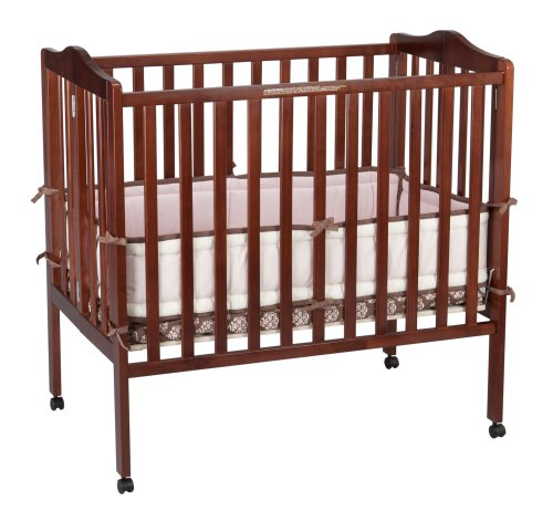 Delta Children Portable Mini Crib, Cherry