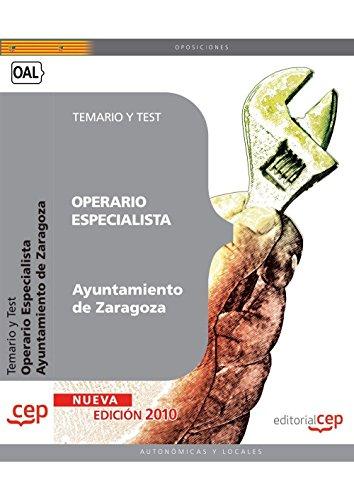 Descargar Libro Operario Especialista Ayuntamiento De Zaragoza. Temario Y Test Sin Datos
