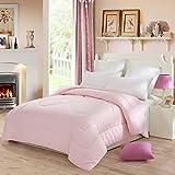 Lovo Luxury Serena Down Alternative Comforter Super Soft Duvet Insert All-season Twin Pink