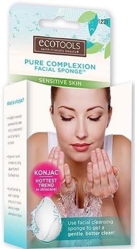 3 Pack) EcoTools Pure Complexion Facial Sponge - Sensitive Skin - White: Amazon.es: Belleza