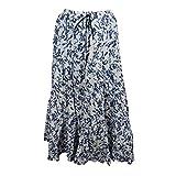 Mogul Interior Womens Maxi Skirt Blue White Hippie Fashion Skirts L