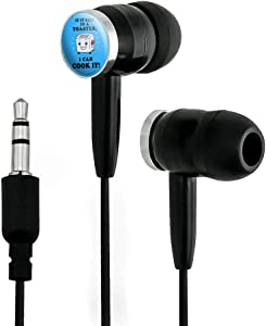 GRAPHICS & MORE If it Fits in a Toaster I Can Cook it Funny Humor Novelty in-Ear Earbud Headphones