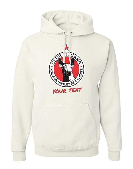 Amazon.com: Tijuana Xolos Mexico Hooded Hoodie Hoody Sudadera with Free Custom Text(Optional): Clothing