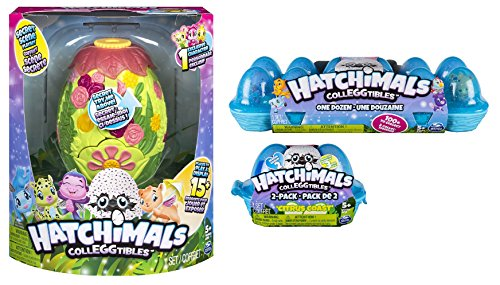 Hatchimals Secret Scene Playset Bundle with Season 2 CollEGGtibles 12-Pack Egg Carton and Citrus Coast 2-Pack Egg Carton by Hatchimals