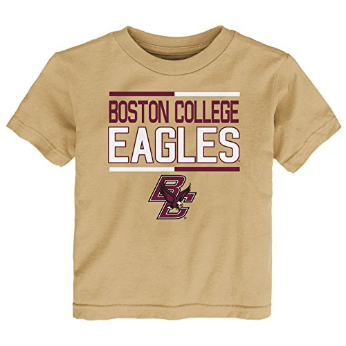 NCAA by Outerstuff NCAA Boston College Eagles Toddler Flag Runner Alternate Color Tee, Sandstorm, 2T