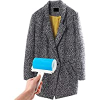 Sticky Roller, Sticky Lint Roller, Doshop Fast Fit Sticky Rollers, Lint, Fluff & Pet Hair Remover, Cloth Cleaning, Washable Reusable Lint Roller(Blue) (Blue)