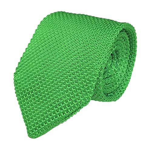- Secdtie Mens Knit Green Tie Modern Thin Woven Groomsmen Wedding Necktie St Patrick's Day 020
