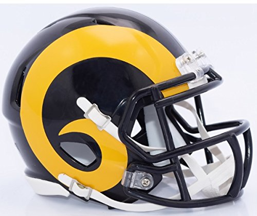 (Los Angeles Rams Riddell Speed Mini Replica Color Rush Football)