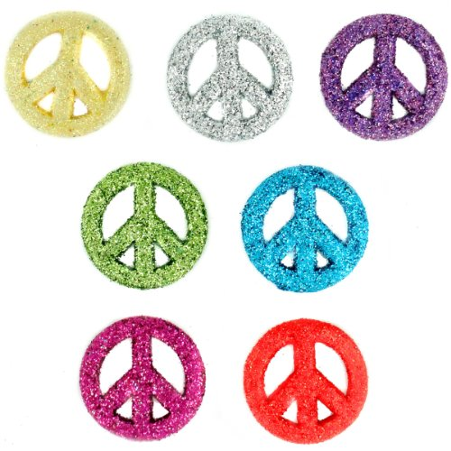 5788 Glitter Peace Signs
