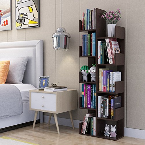 Raumeyun Modern Corner 7-Tier Wooden Plant Shelf/Flower Stand/Bookshelf Bookcase Stand Shelf Home Decor Accessory