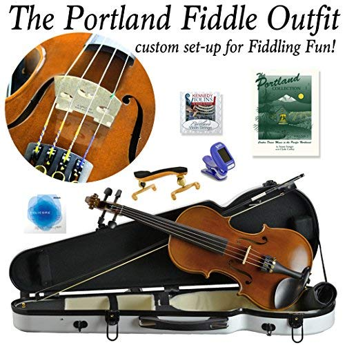Portland Fiddle Outfit. Custom set-up for fiddling fun! (White) [並行輸入品]   B07GTV6WB6