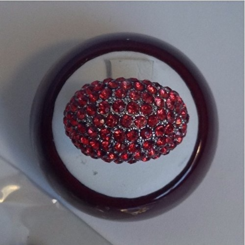 Adjustable Cluster (Vintage Style Red Rhinestone Cluster Adjustable Ring)