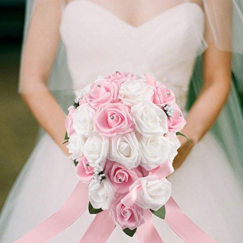 1pcs Bridal Wedding Flower Decoration Bouquet Foam Holder Handle - 1