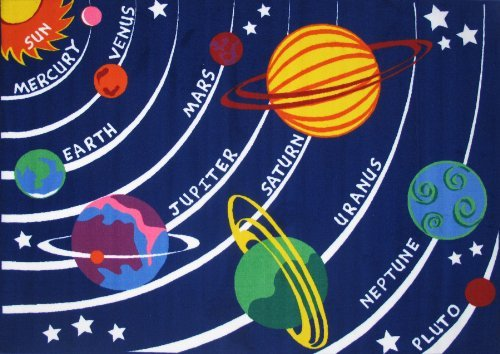 Fun Rugs Fun Time Solar System Rectangle Rug, Multi Color by Fun Rugs