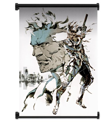 Metal Gear Solid 2 Sons of Liberty Game Fabric Wall Scroll P