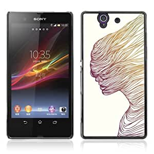Designer Depo Hard Protection Case for Sony Xperia Z L36H / Cool Abstract Art