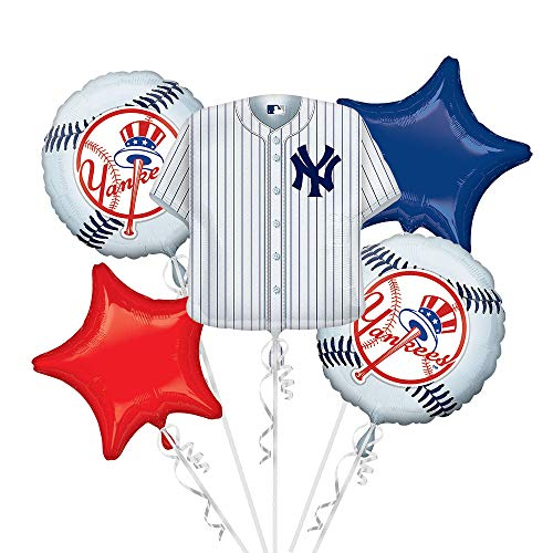 Anagram 32033 New York Yankees Balloon Bouquet, Multicolored ()