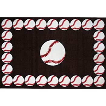 Amazon Com Fun Rugs Baseball Time Accent Rug 19 Inch By