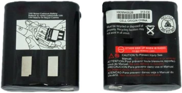 Kastar 2 Pack Two-Way Radio Rechargeable Battery Replacement for Motorola Em1000 53615 m53615 KEBT-071-A KEBT-071-B KEBT-071-C KEBT-071-D Talkabout 5950 T4800 T4900 T5000 T5800 T9500R Talkabout Radios