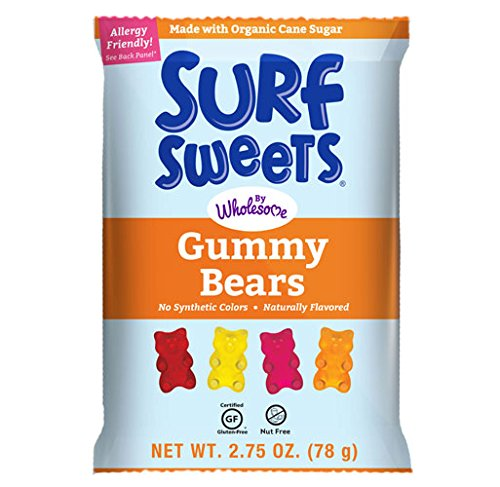Surf Sweets Gummy Bears, Nut Free, Gluten Free, Dairy Free, 2.75 oz. (Pack of 12) by Surf Sweets