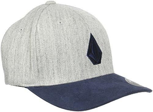 Medium Cap Hat - Volcom Men's Full Stone Heather Flexfit Stretch Twill Hat, Indigo, S/M
