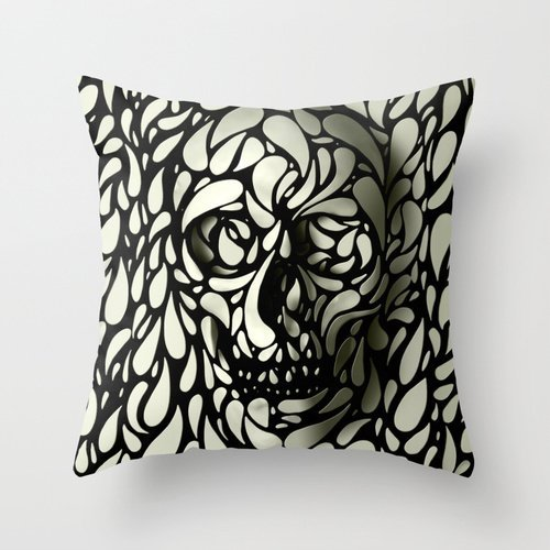 18 x 18 inches / 45 by 45 cm skull throw pillow covers ,2 sides ornament and gift to car,son,adults,home theater,bedding,relatives - Memphis Lounger