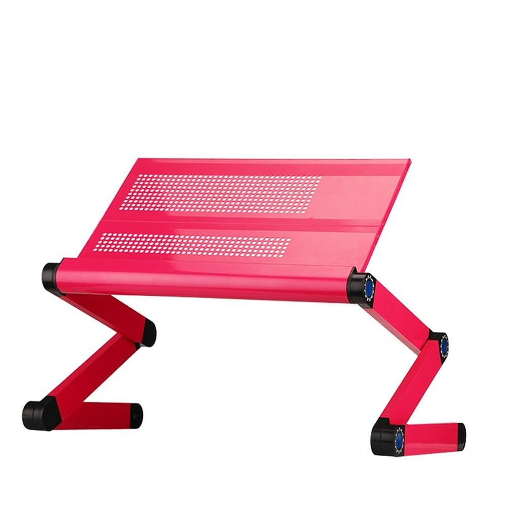 Adjustable Portable Laptop Table Stand Lap Sofa Bed Tray Notebook Desk Bed Table With Mouse Pad(does not include Computer), 3
