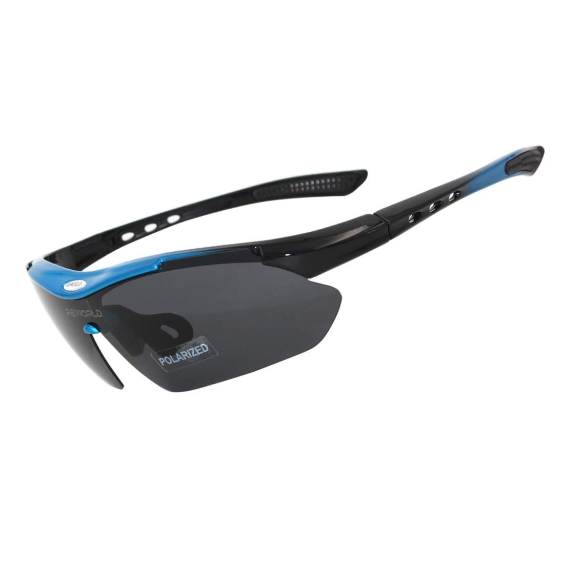 BAOYIT Polarized Outdoor Sports UV400 Men and Women Bicycle Glasses Windproof Riding Glasses for Women Men (Color : Blue) by BAOYIT