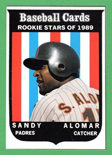Sandy Alomar Jr. 1959 Topps Style ( From 1989 Baseball Card Magazine Insert) (Padres) - Junior 2016 Styles