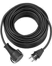 Brennenstuhl Kwaliteits verlengsnoer 10m (IP44, kabel voor buiten) zwart