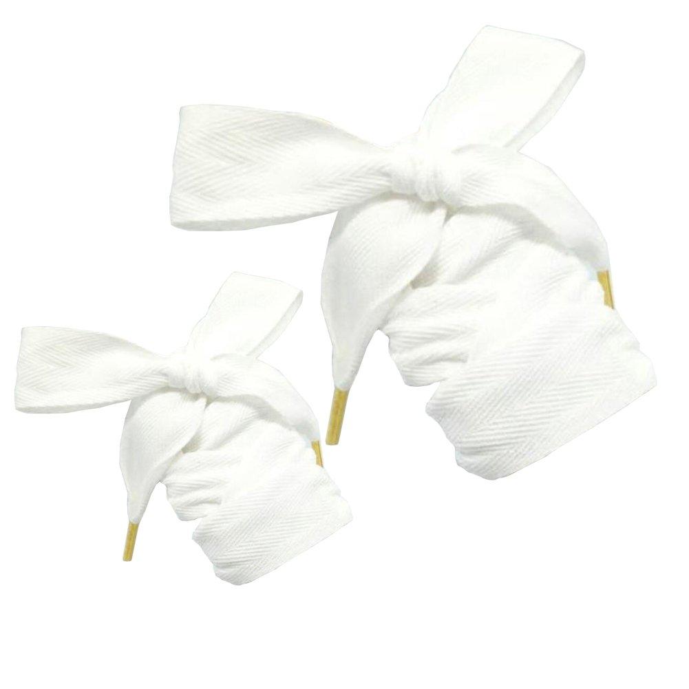 1 par de algodón Tie Shoelaces cordones de zapatos decoración de calzado W3CMxL100CM blanco Fancy Pumpkin