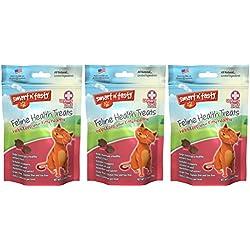 (3 Pack) Smart n' Tasty Grain-Free Cat Urinary Tract Formula Cat Treats 2.5 Ounces each