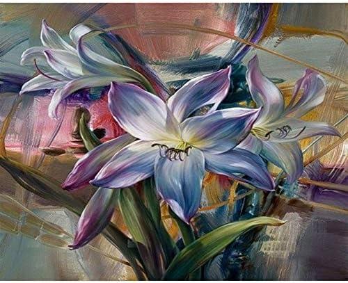 JSBFZQQ キットは、キャンバス現代ウォールアートのホームデコレーションにペイント数字でDIY絵画 (Size (Inch) : 40x50cm diy frame)