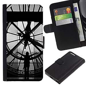 JackGot ( Architettura Big Ben Clok Dentro ) Apple (5.5 inches!!!) iPhone 6+ Plus / 6S+ Plus la tarjeta de Crédito Slots PU Funda de cuero Monedero caso cubierta de piel